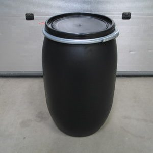 60 liters plastfade i sort